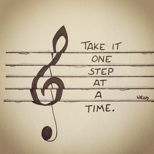 Sketchbook One Step At A Time Music Tattoos Singing Lessons Singing Tips