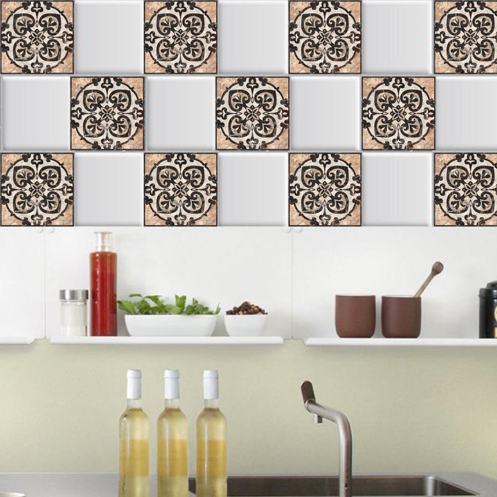 10pcs Lot 3d Europe Style Floor Tiles Diagonal Wall Stickers Bathroom Kitchen Waist Line Poster Wear Resistant Vinyl Art Mural Geometric Decor Wall Stickers Geometric Wall