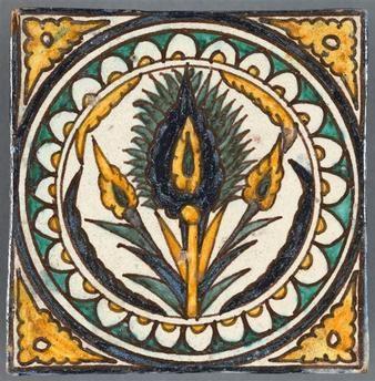 """""""Carreau"""". Paris, musée d'Art et d'Histoire du Judaïsme - Photo (C) RMN-Grand Palais (musée d'art et d'histoire du judaïsme) / Jean-Gilles Berizzi"""