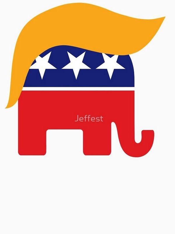 2ae56fdf69f45a Donald Trump Hair GOP Elephant Logo TrumpCentral.org