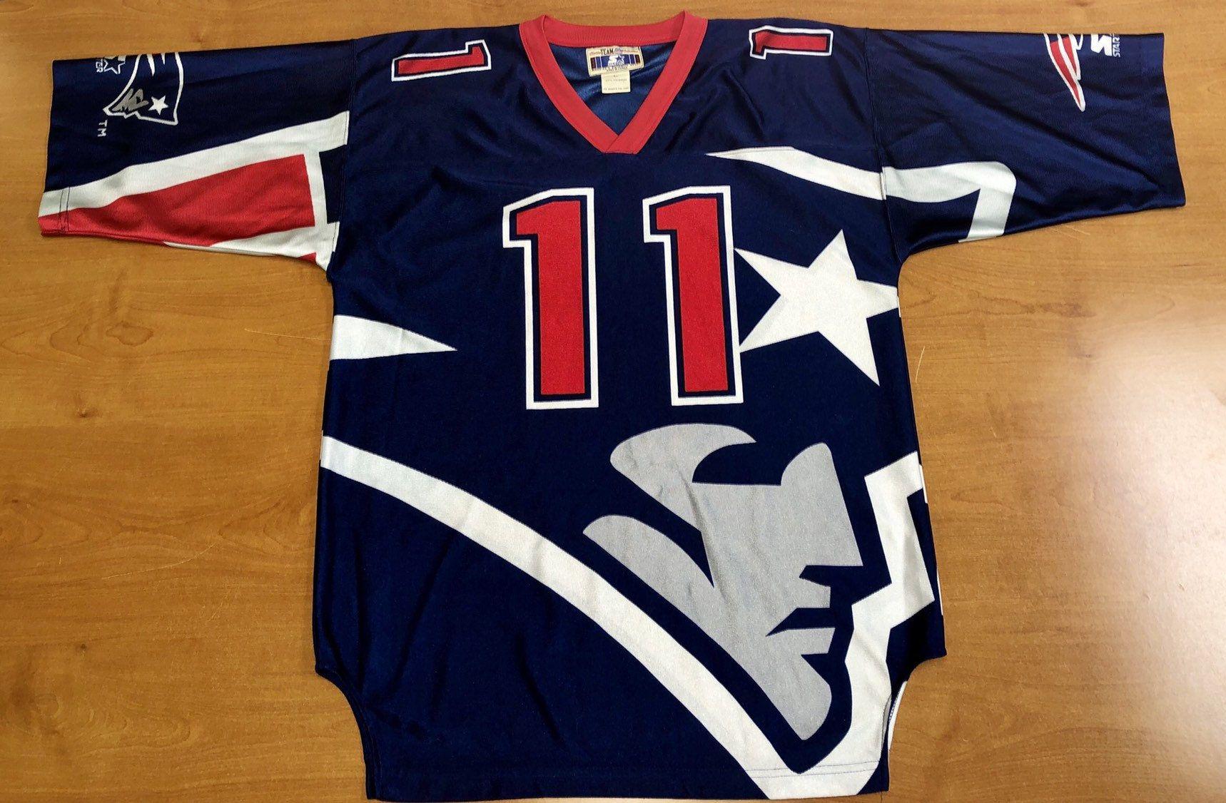 Vintage 1996 Drew Bledsoe New England Patriots Starter Jersey Belichick Sweatshirt Julian Edelman Adam Vinati New England Patriots Drew Bledsoe Jersey Patriots