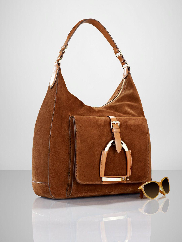 a97a31dcd592 Suede Stirrup Hobo - Ralph Lauren Handbags Handbags - RalphLauren ...
