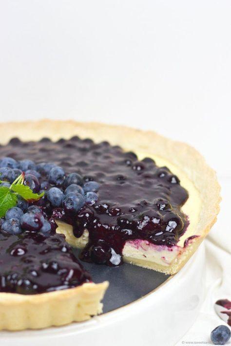 Cheesecake Tarte mit Heidelbeeren Rezept - Sweets & Lifestyle