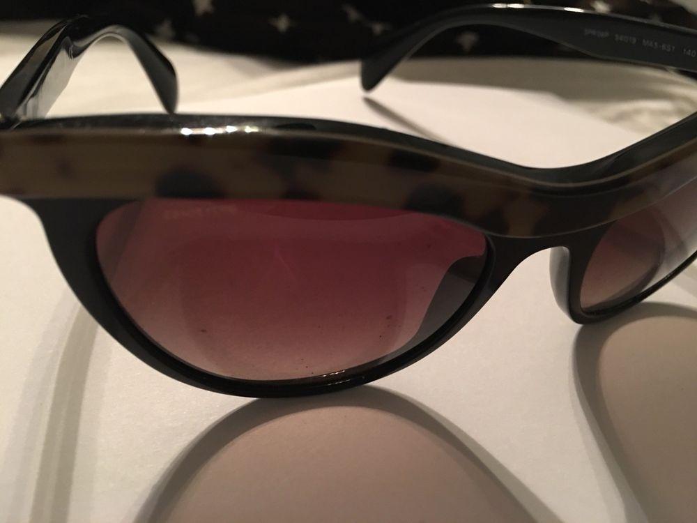 0492889eb41 Authentic black Prada sunglasses for women SPR 14Q 55-18 RO3-1A1 145   fashion  clothing  shoes  accessories  womensaccessories ...