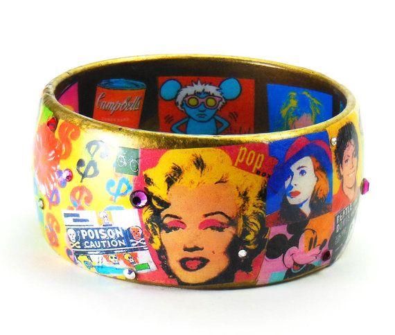 /'POW/' Woven Festival Style Wristband Bracelet Pop-Art Warhol Unisex
