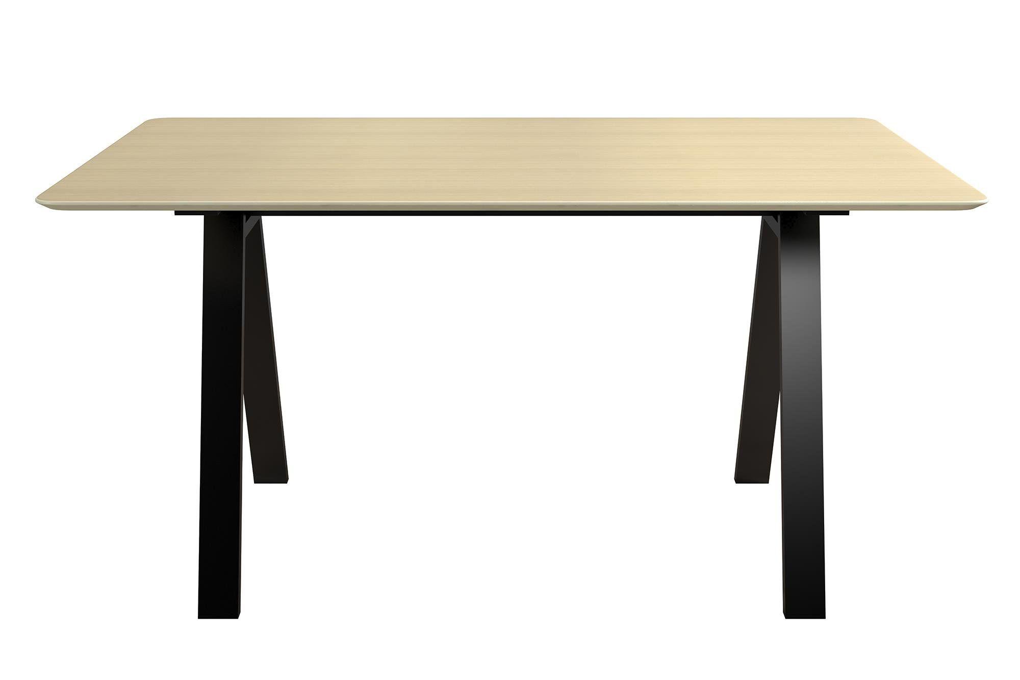 Novogratz Campbell Rectangular Dining Table With Natural Top And