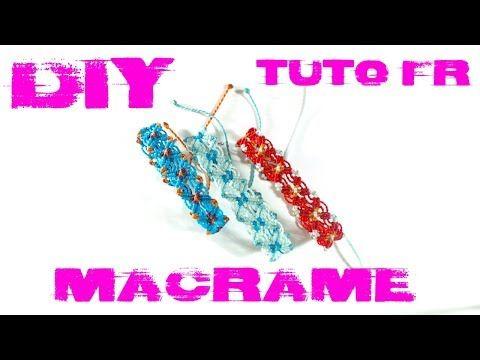 diy tuto bracelet d 39 t color en macram youtube macram pinterest macram macrame. Black Bedroom Furniture Sets. Home Design Ideas