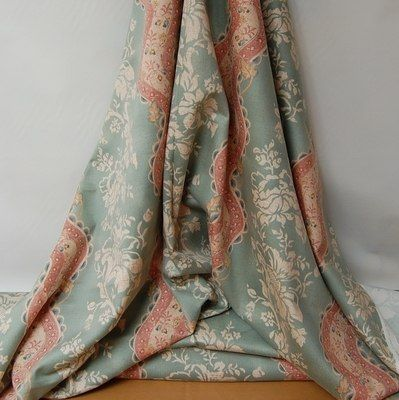 'Audley' from Anne and Robert Swaffer curtain fabric. The muted colours in this fabric are ideal for 'shabby chic'!