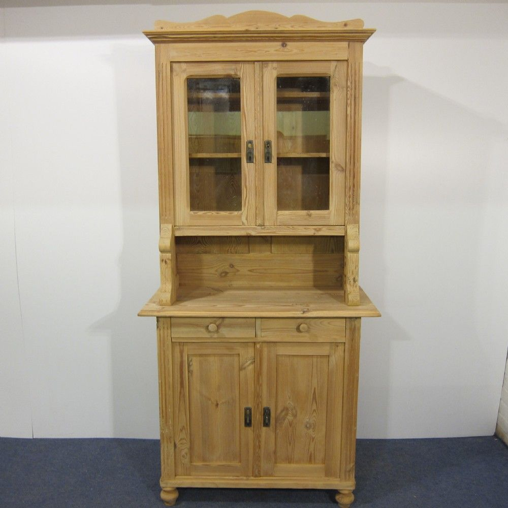 Tall Slim Antique Pine Dresser