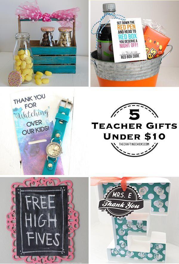 5 Teacher Gifts Under 10 Pinterest Gift And Easy Homemade