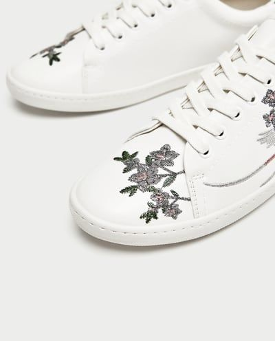 EMBROIDERED SNEAKERS from Zara