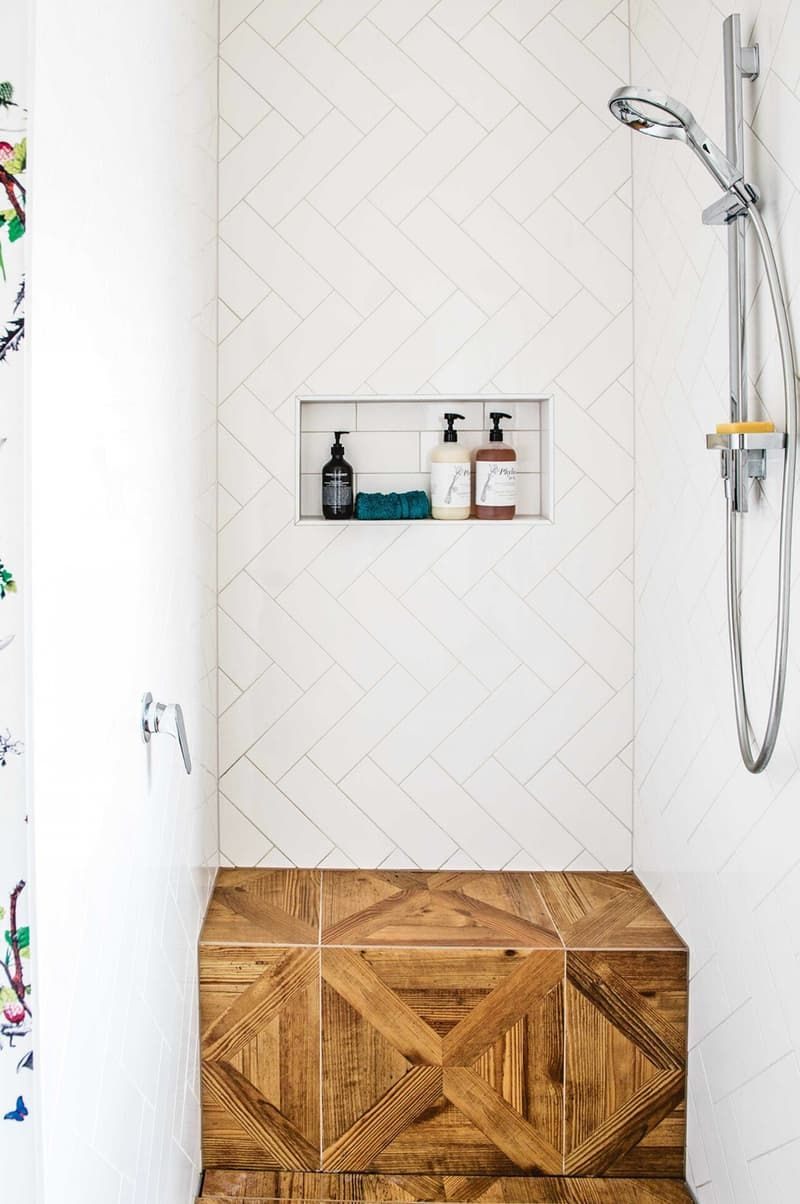 badass ways to use subway tile in the bathroom editor 39 s. Black Bedroom Furniture Sets. Home Design Ideas