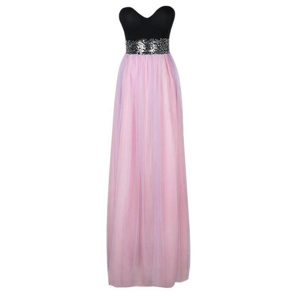 Elegant sleeveless strapless cute chiffon dress women party evening