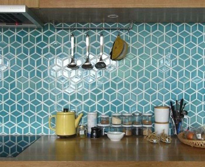 Awesome Idée Relooking Cuisine Le Carrelage Mural En - Peinture carreaux cuisine pour idees de deco de cuisine