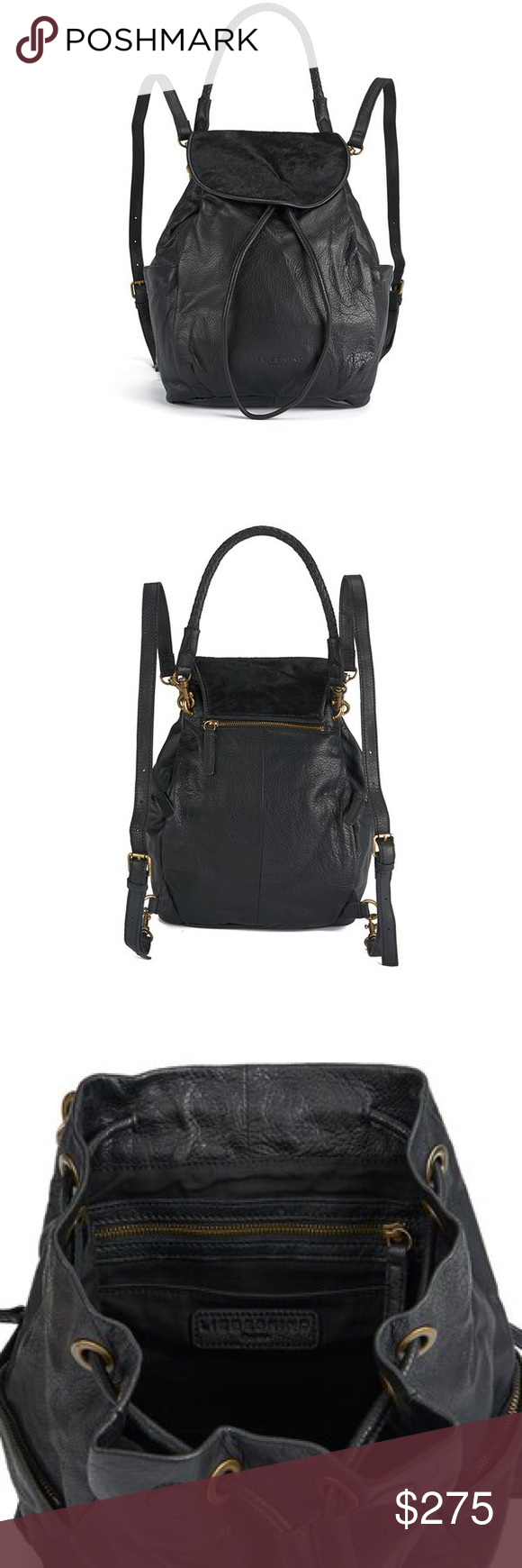 Liebskind IDA- pony black leather backpack Only used once! In brand new shape! Liebeskind Bags Backpacks