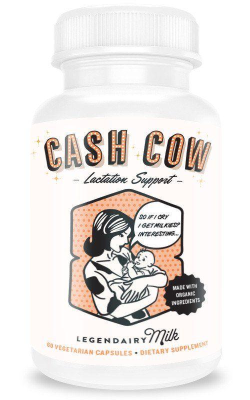 Cash Cow, lactation supplements, milk supply, baby, new mom, breastfeeding