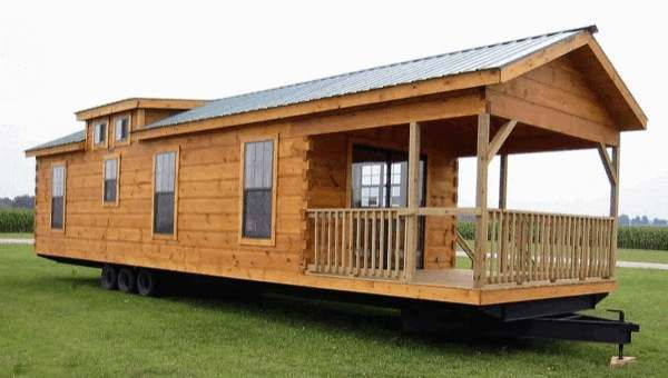 400 Sq Ft Oak Log Cabin On Wheels Cheap Tiny House Tiny House Cabin Small House