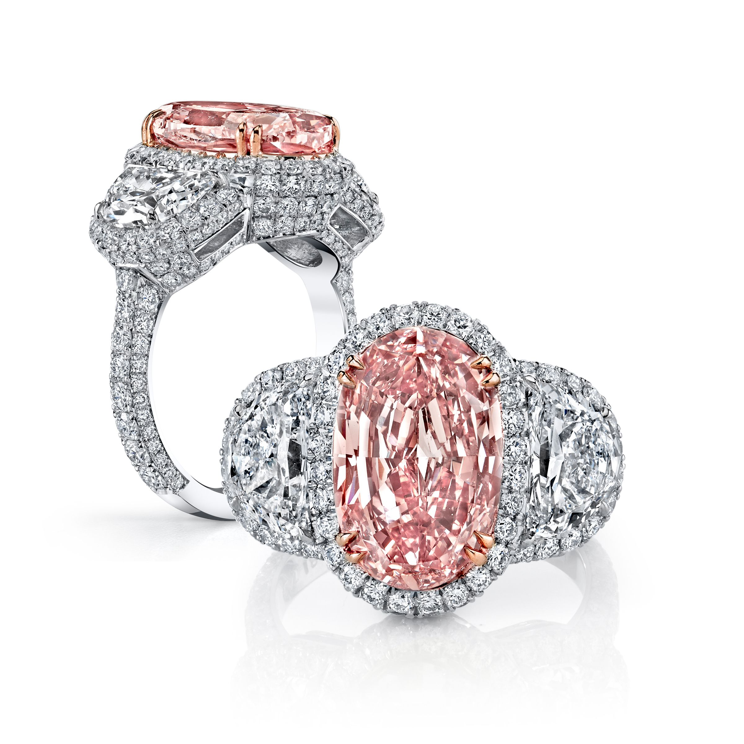 beautiful marquise set rings in platinum ring diamond kunzite pink carat pin diamonds with