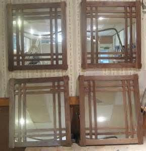 Set of 4 Matched Craftsman Mirrors