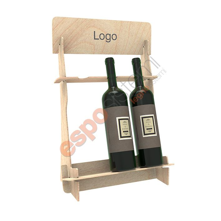 Espositore in legno da banco per bottiglie di vino ➡ Ls 1209 ...