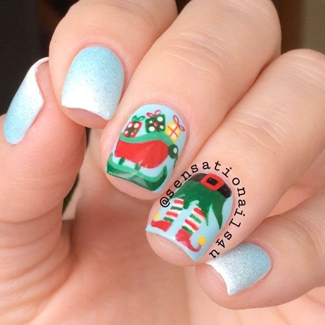36 Lovely Holiday Nails Designs To Get You In The Spirit Winter