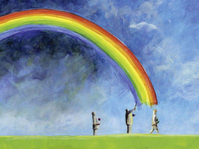 ann kathrin busse regenbogen malen leinwandbilder illustration pinterest regenb gen. Black Bedroom Furniture Sets. Home Design Ideas