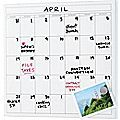 Martha Stewart Home Office with Avery Wall Manager Magnetic DE Monthly Calendar, White
