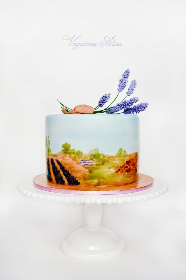 Wedding cake with lavender - Cake by Alina Vaganova