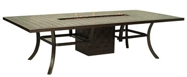54 X 108 Rectangular Dining Table With Fire Pit By Pride Family Brands.  Available At