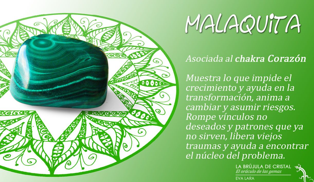 Malaquita chakra coraz n labrujuladecristal la - Propiedades piedras naturales ...