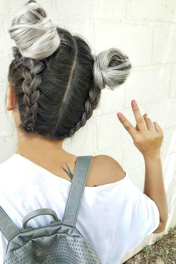 Tendance Double Bun en 2019 Coiffure, Cheveux coiffure