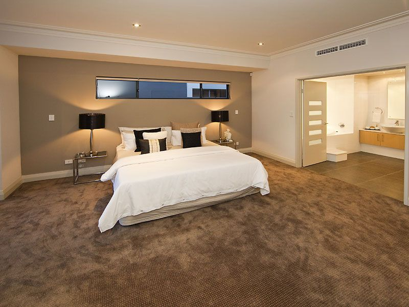 modern bedroom design idea with carpet french doors using brown colours bedroom photo 341887 - Best Carpet For Bedrooms