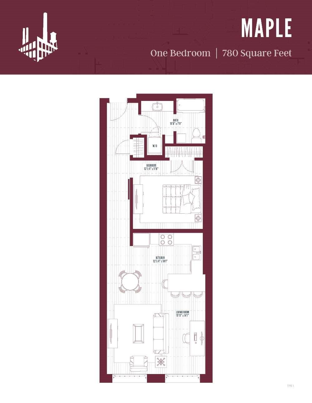 Maple Floor Plan 780 Sq Ft 925 1015 9 11 Mins Floor Plans Townhomes For Rent Maple Floors