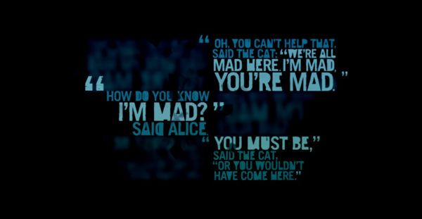 Far Cry 3 Typography Far Cry 3 Alice And Wonderland Quotes Were All Mad Here