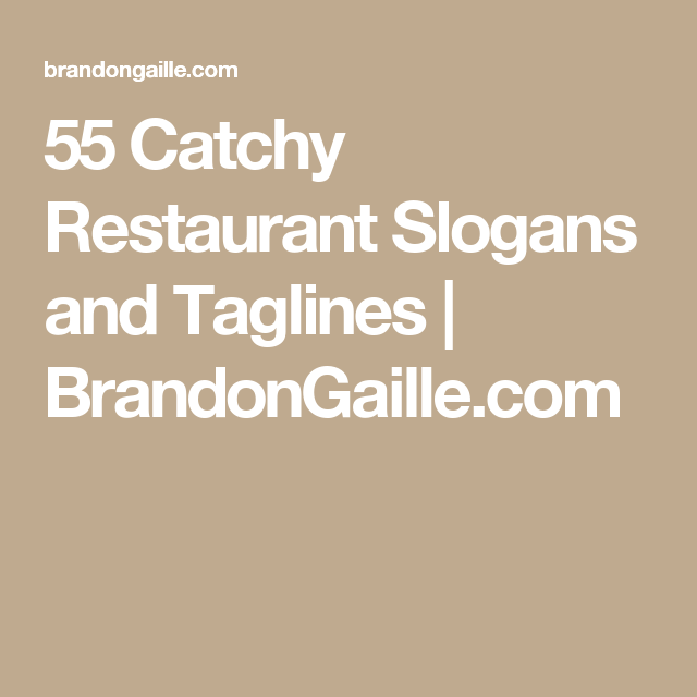175 Catchy Restaurant Slogans and Taglines   Games for a