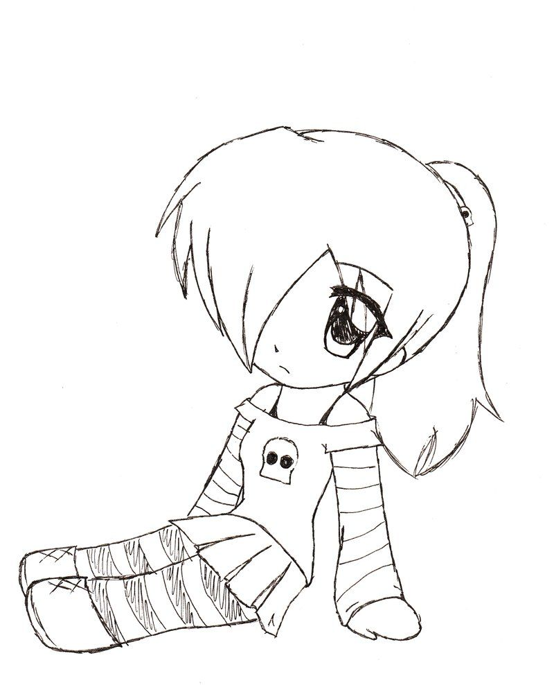 Cute Chibi Girl Easy Drawings