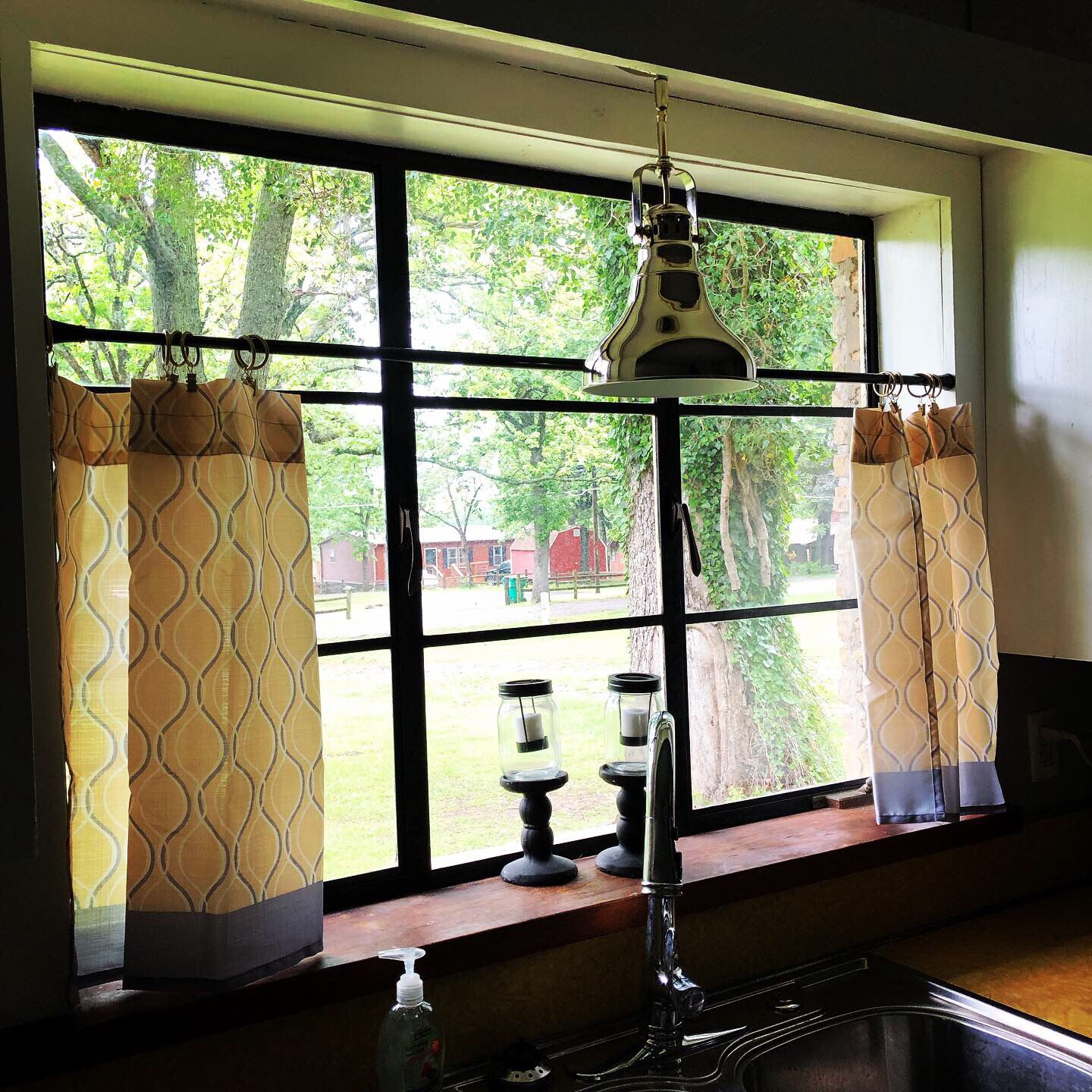 Bought These Curtains Bistro Clips And Tension Rod From Walmart Com The Light From Lowes Curtains Home Decor Farmhouse Style