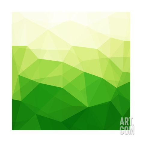 Abstract Green Triangle Background Print By Epic44 At Art Com