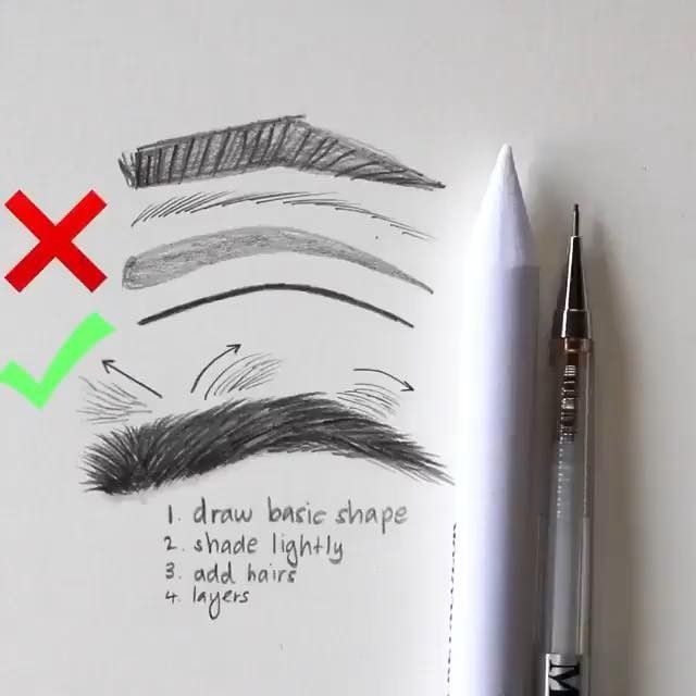 "Art Tutorials and References on Instagram: ""I finally found a good eyebrow tut… #eyebrowstutorial"