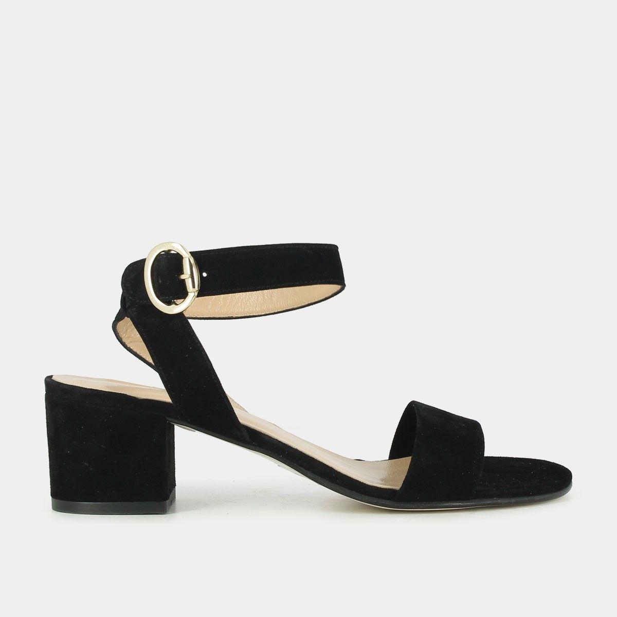 les mieux notés plus bas rabais nouveau authentique Sandales à talon carré en velours noir | Shoes en 2019 ...