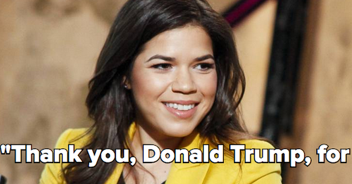 Donald Trump Racist Quotes Awesome Straight Talkwhy America Ferrera Is Thanking Donald Trump . Decorating Design