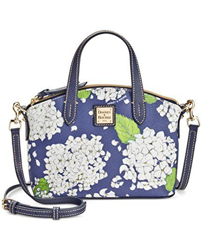 efe192712388 Dooney   Bourke Hydrangea Mini Satchel White marine. Find this Pin and more  on Designer Handbags   Purses - Tote Bags - Wallets ...