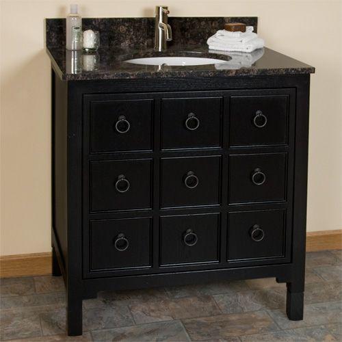 Apothecary Vanity Cabinet Vessel Sink