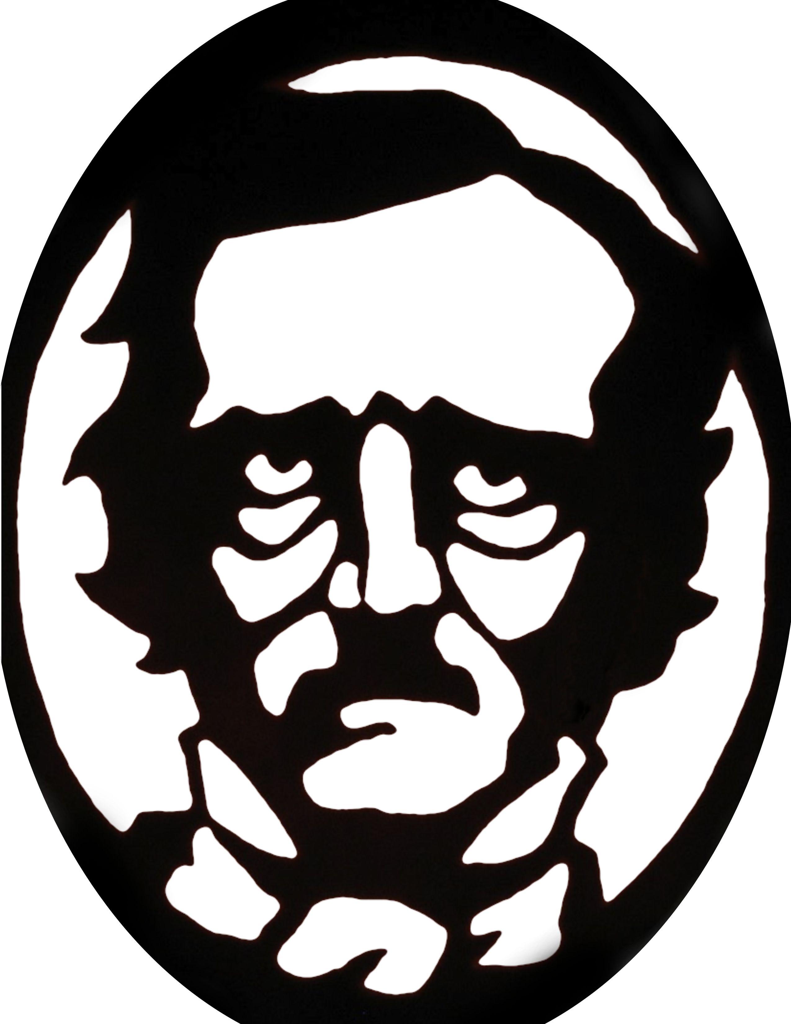 Edgar Allen Poe pumpkin carving stencil template. Poke tiny holes to ...