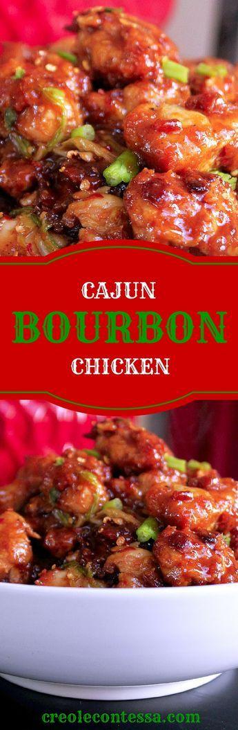 Cajun Bourbon Chicken-Creole Contessa #cajundishes