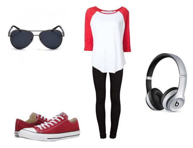 """""""Random~"""" by getjinxed-468 ❤ liked on Polyvore featuring J Brand, Converse, Frame and Beats by Dr. Dre"""