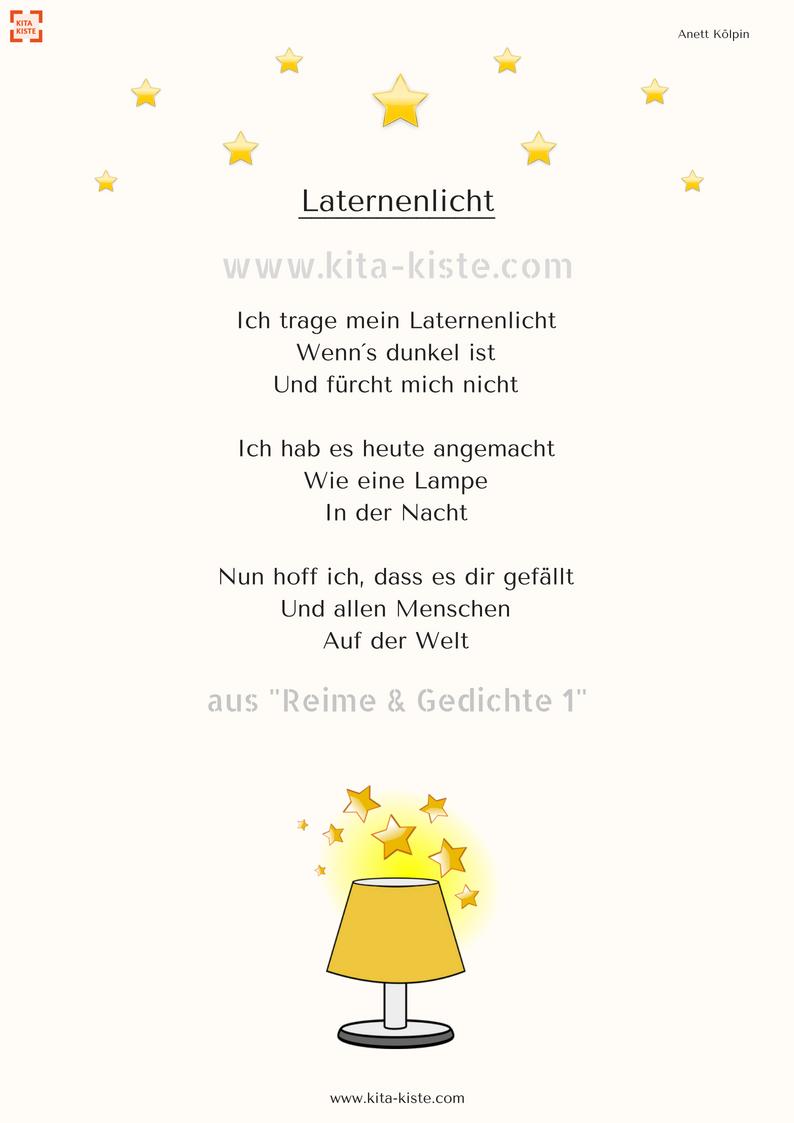 Laternen-Gedicht für den #kindergarten - aus \