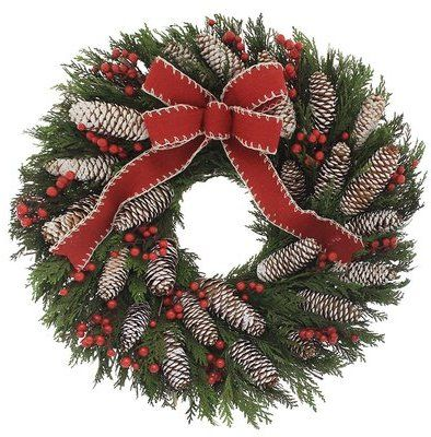 wayfair cabin life iv 18 wreath click on the image for more info christmasdecor christmaswreaths christmas christmas wreaths christmas wreaths - Wayfair Christmas
