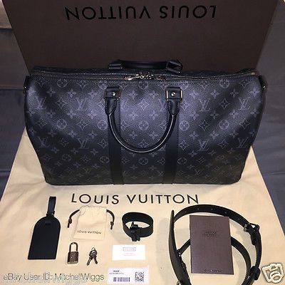 8bf8f503ed27 Louis Vuitton Keepall 45 - Monogram Eclipse - Limited Edition Duffel  Luggage Bag