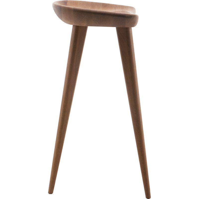 Miraculous Kami Counter Height Stool In Dark American Walnut By Nuevo Inzonedesignstudio Interior Chair Design Inzonedesignstudiocom